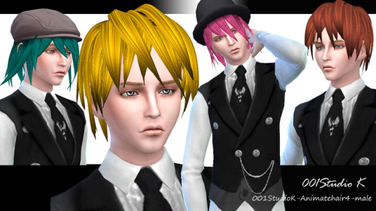 Animate hair 4 for males at Studio K Creation image 6620 Sims 4 Updates