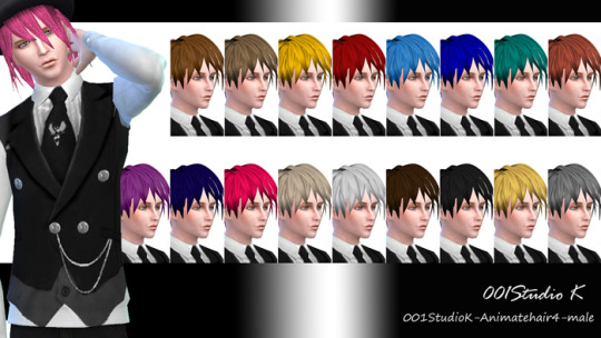 Animate hair 4 for males at Studio K Creation image 6717 Sims 4 Updates