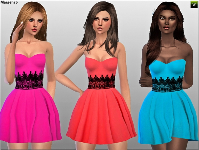 Just A Dress by Margie at Sims Addictions image 6720 Sims 4 Updates