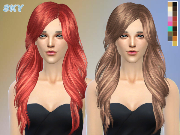 Sims 4 Hair 229 by Skysims at TSR