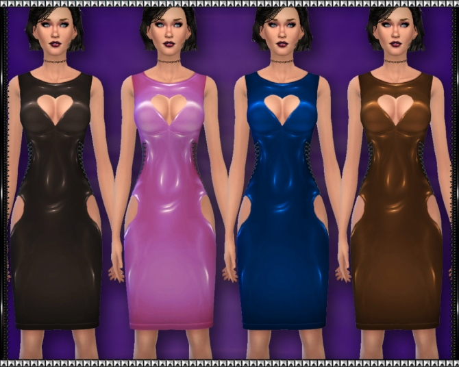 Sims 4 Valentine PVC Dress at SrslySims