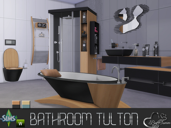Tulton bathroom by buffsumm at tsr sims 4 updates for Bathroom ideas sims 4