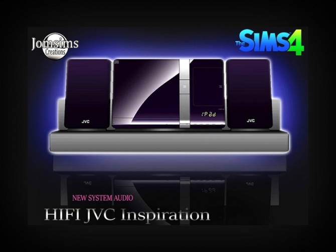 Sims 4 HIFI audio system at Jomsims Creations