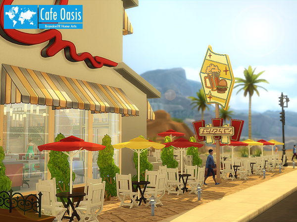 Cafe Oasis by BrandonTR at Tukete image 727 Sims 4 Updates