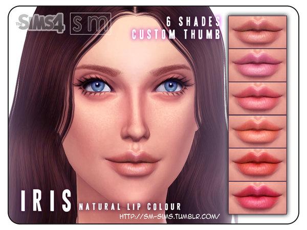 Iris Natural Lip Colour by Screaming Mustard at TSR image 7320 Sims 4 Updates