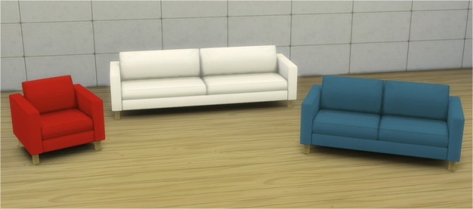 Sims 4 Chair, loveseat and sofa from TS2 Ikea SP at Veranka