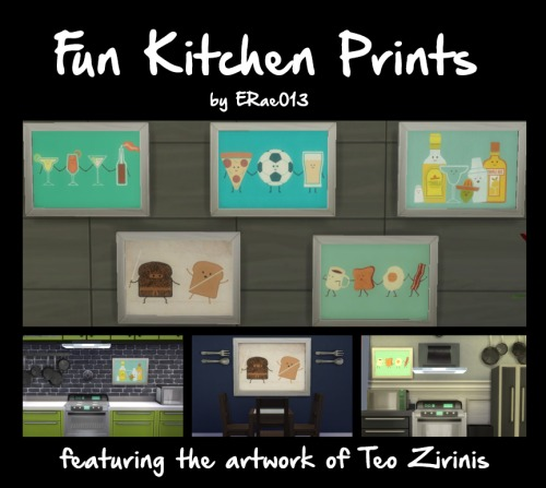 Fun Kitchen Prints by ERae013 at Adventures in Geekiness image 7411 Sims 4 Updates