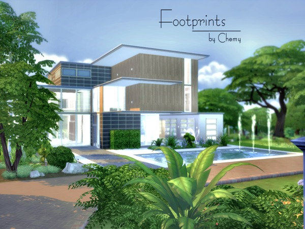 Footprints house by chemy at TSR image 7420 Sims 4 Updates