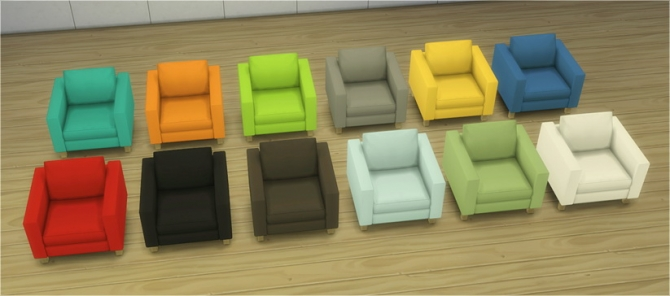 Chair, loveseat and sofa from TS2 Ikea SP at Veranka image 749 Sims 4 Updates