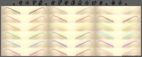 Edo + Goth eyebrows 01 04 at DecayClown's Sims image 7510 Sims 4 Updates
