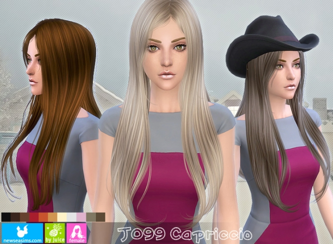 J099 Capriccio hair (Pay) at Newsea Sims 4 image 753 Sims 4 Updates