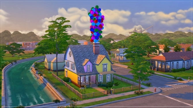 Sims 4 House from Up cartoon by fatalist at ihelensims