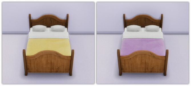 Rustic Dreams Bed In Soft Solid Shades at 13pumpkin31 image 7715 Sims 4 Updates