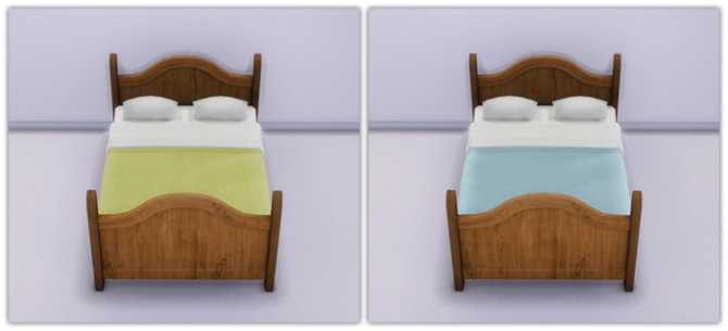 Rustic Dreams Bed In Soft Solid Shades at 13pumpkin31 image 7816 Sims 4 Updates