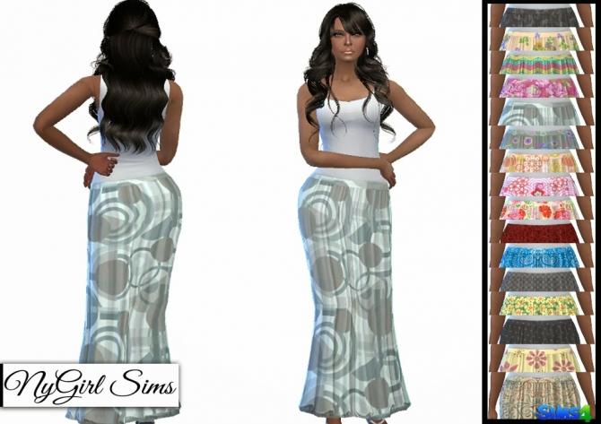 TS3 Patterned Maxi Skirts at NyGirl Sims image 787 Sims 4 Updates
