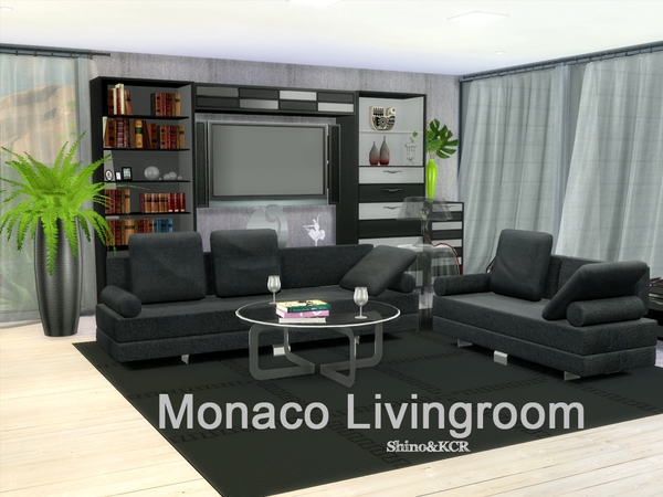 Monaco living by shinokcr at tsr sims 4 updates for Modern living room sims 4