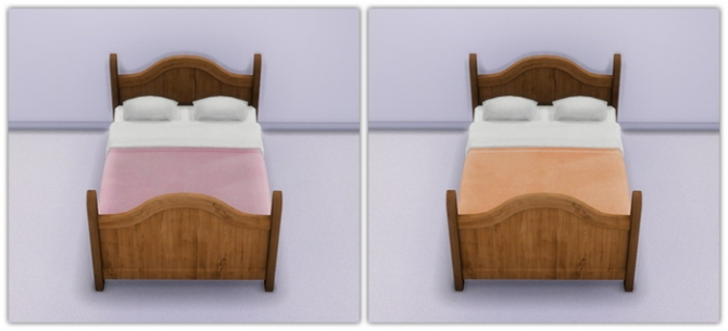 Rustic Dreams Bed In Soft Solid Shades at 13pumpkin31 image 7915 Sims 4 Updates