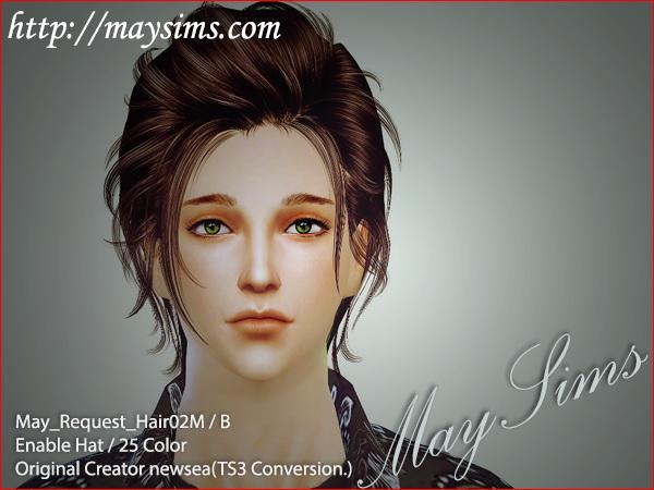 Sims 4 Hair 02 M/B conversion from TS3 Newsea at May Sims
