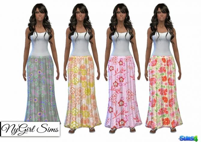 TS3 Patterned Maxi Skirts at NyGirl Sims image 806 Sims 4 Updates