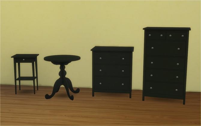 Sims 4 IKEA HEMNES Bedroom & Mattresses for Bed Frames at Veranka
