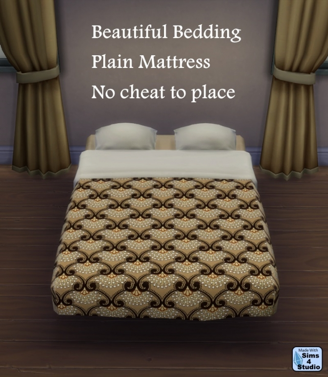 Sims 4 Plain Mattress with Bedding Recolors at Sims 4 Studio