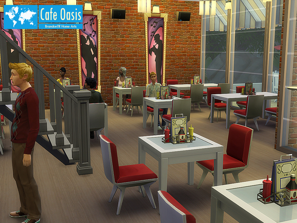 Cafe Oasis by BrandonTR at Tukete image 825 Sims 4 Updates