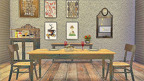 Sims 4 Brocante Kitchen Recolors in Coffee at Cool panther Sims 4 Haven