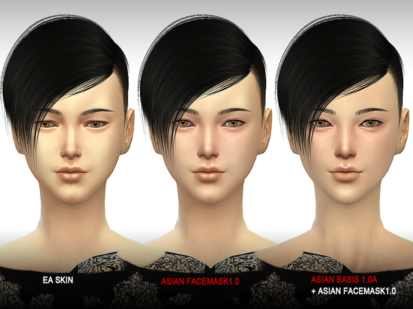 Sims 4 ASIAN Facemask 1.0 by S Club WMLL at TSR