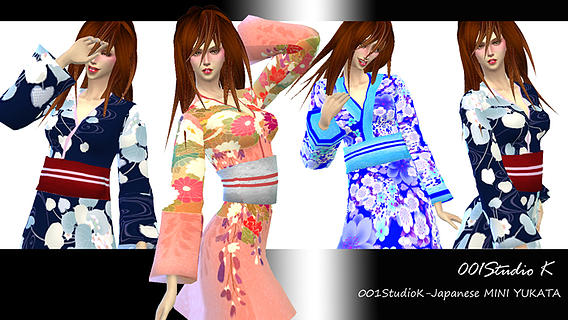 Japanese Mini YUKATA outfit at Studio K Creation image 8411 Sims 4 Updates