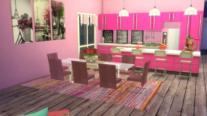 Pink Pearl House At Tacha 75 187 Sims 4 Updates