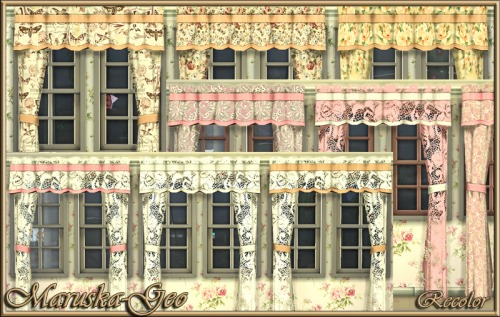 Sims 4 Fantasy curtains at Maruska Geo