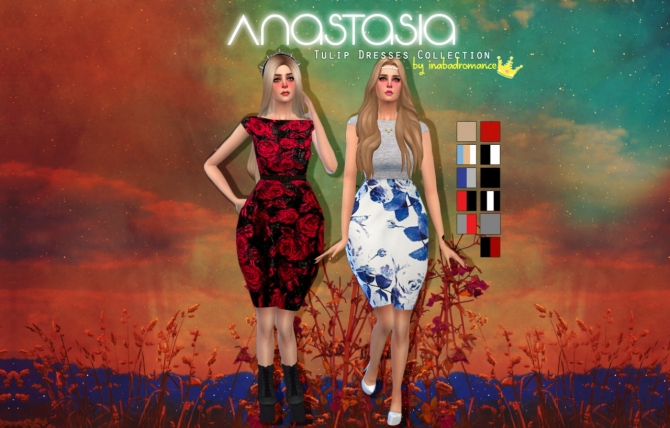 Anastasia tulip dresses collection at In a bad Romance image 8519 Sims 4 Updates