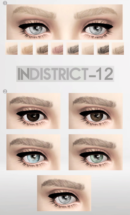 Blush, brows, eyes and clothing at InDistrict 12 image 861 Sims 4 Updates