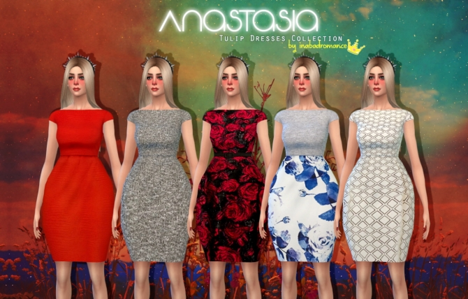Anastasia tulip dresses collection at In a bad Romance image 8618 Sims 4 Updates