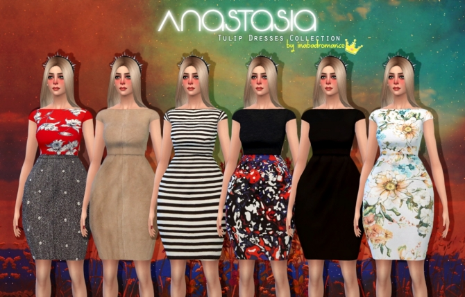 Anastasia tulip dresses collection at In a bad Romance image 8717 Sims 4 Updates