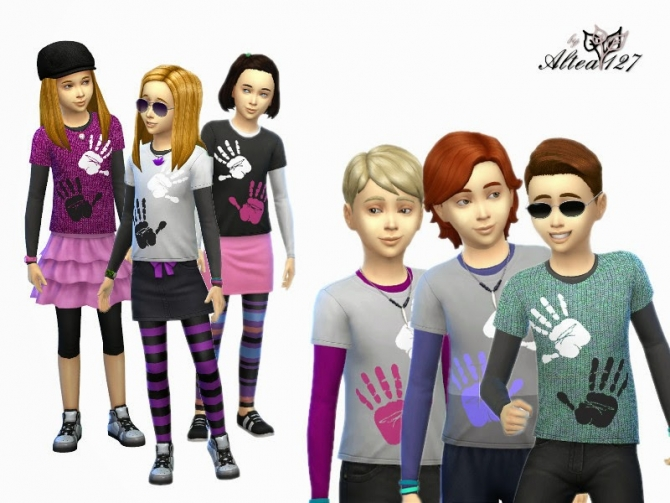 T shirts at Altea127 SimsVogue image 872 Sims 4 Updates
