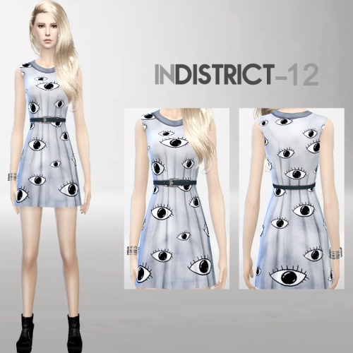 Blush, brows, eyes and clothing at InDistrict 12 image 891 Sims 4 Updates