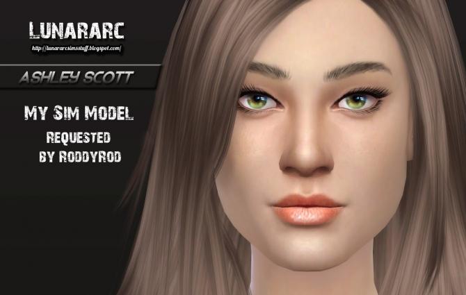 Sims 4 Ashly scott sim model at Lunararc