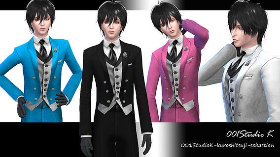 Sims 4 Kuroshitsuji sebastian suit at Studio K Creation
