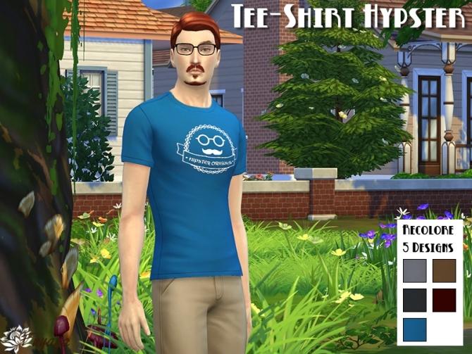 HYPSTER tee shirts set by Fuyaya at Sims Artists image 9123 Sims 4 Updates