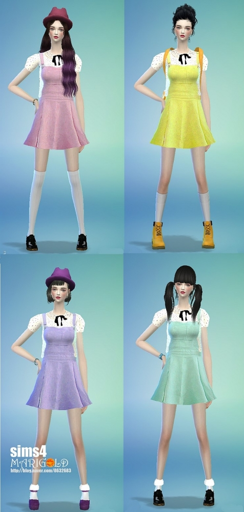 Top, dresses, hat and bracelet at Marigold image 9213 Sims 4 Updates
