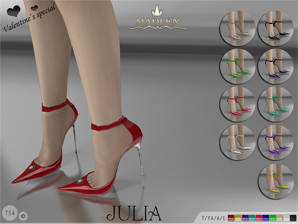 Sims 4 Madlen Julia Shoes by MJ95 at TSR