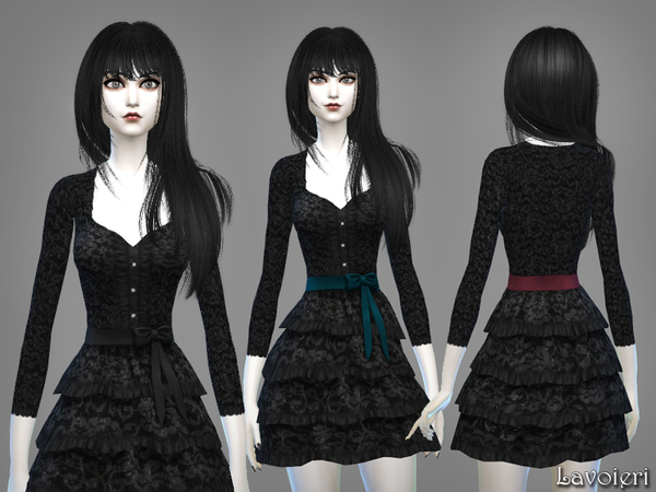 Anachronism Dress by Lavoieri at TSR image 943 Sims 4 Updates