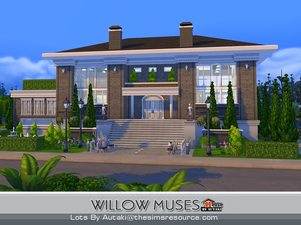 Sims 4 Willow Muses house by autaki at TSR