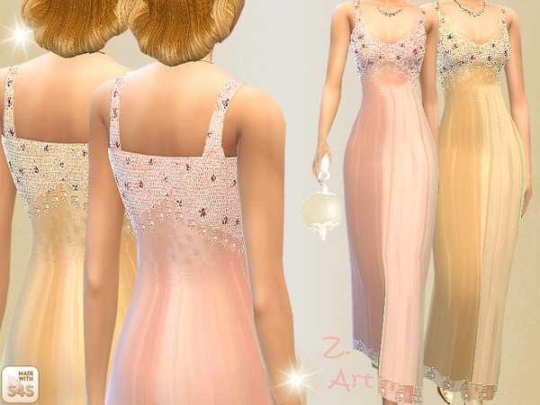 Dress with pearls by Zuckerschnute20 at TSR image 960 Sims 4 Updates