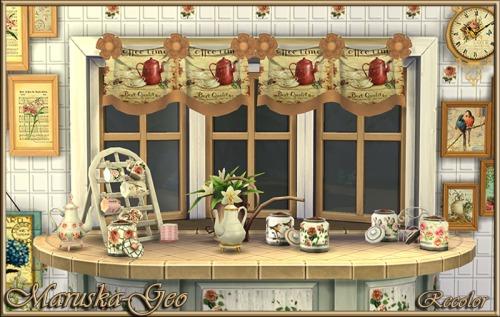 Sims 4 Shabby chic decor set at Maruska Geo