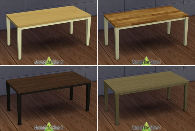 Around the sims 4 ikea dining chairs simplicy table wood - Ikea wooden dining table chairs ...
