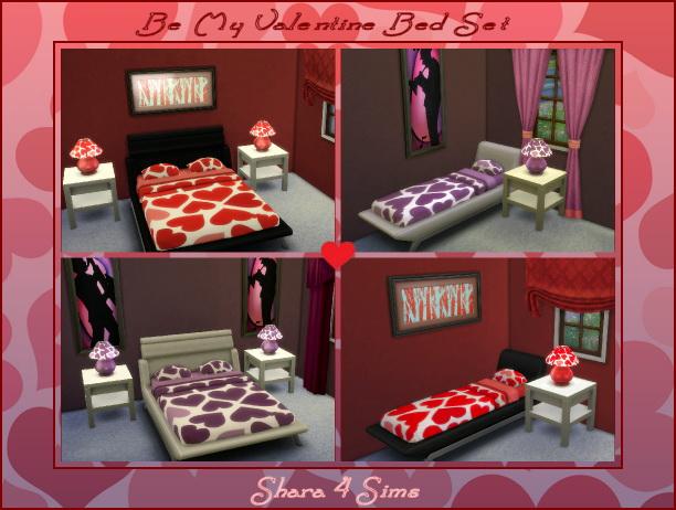 Be My Valentine Bed Set at Shara 4 Sims image 996 Sims 4 Updates