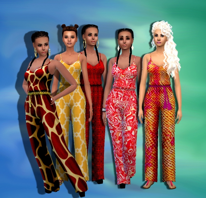 Sims 4 Relax 10 jumpsuits set at Dreaming 4 Sims