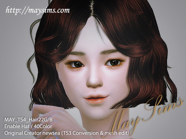 Sims 4 Hair 22 F at May Sims
